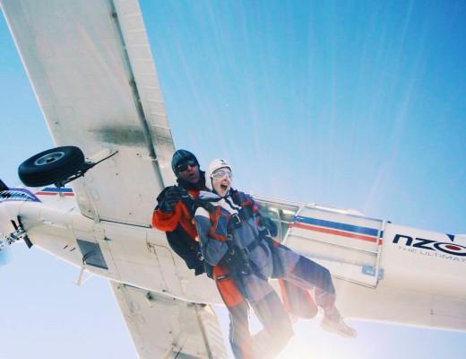 Skydiving in Queenstown, New Zealand, 2006