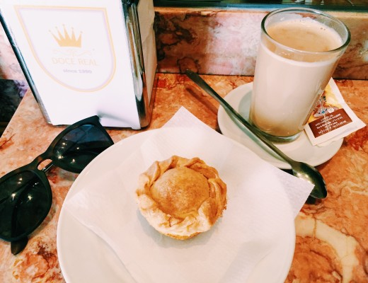 Coffee and chicken-filled pastry