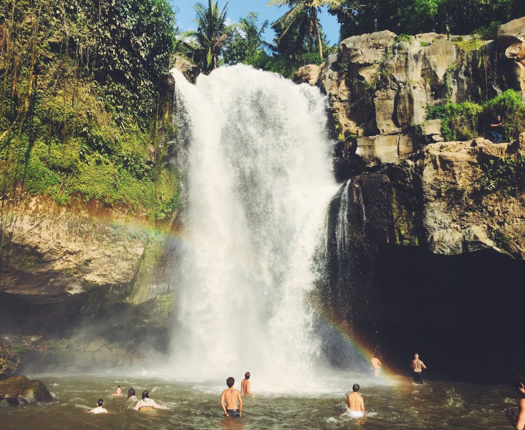 Waterfall + Rainbow = Birthday Magic