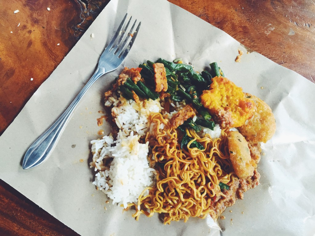 Cheap local eats from the warung down the street