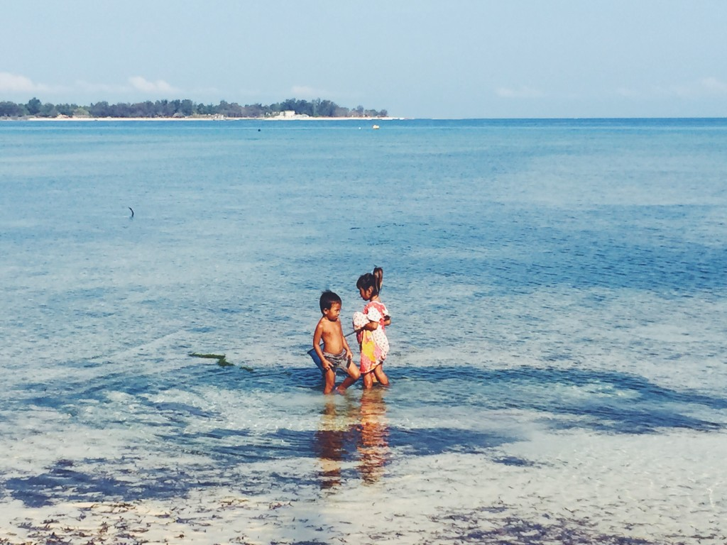 Lil cuties playing on Gili Air