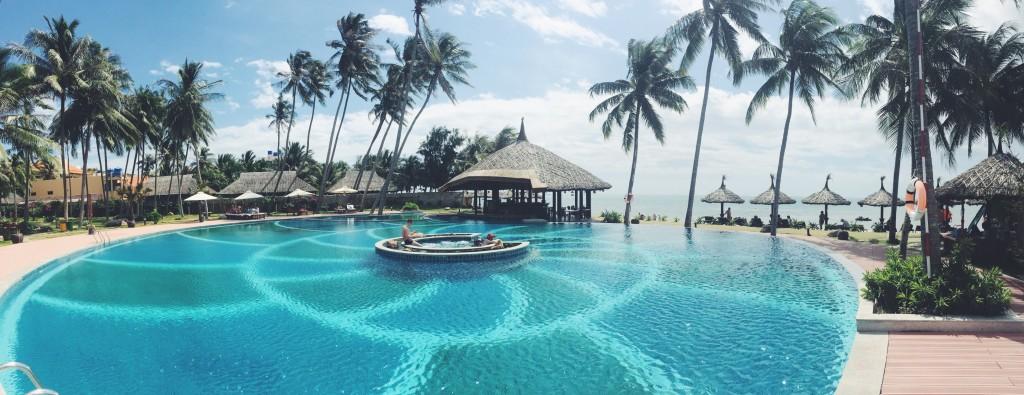 Seaside pool vibes in Vietnam