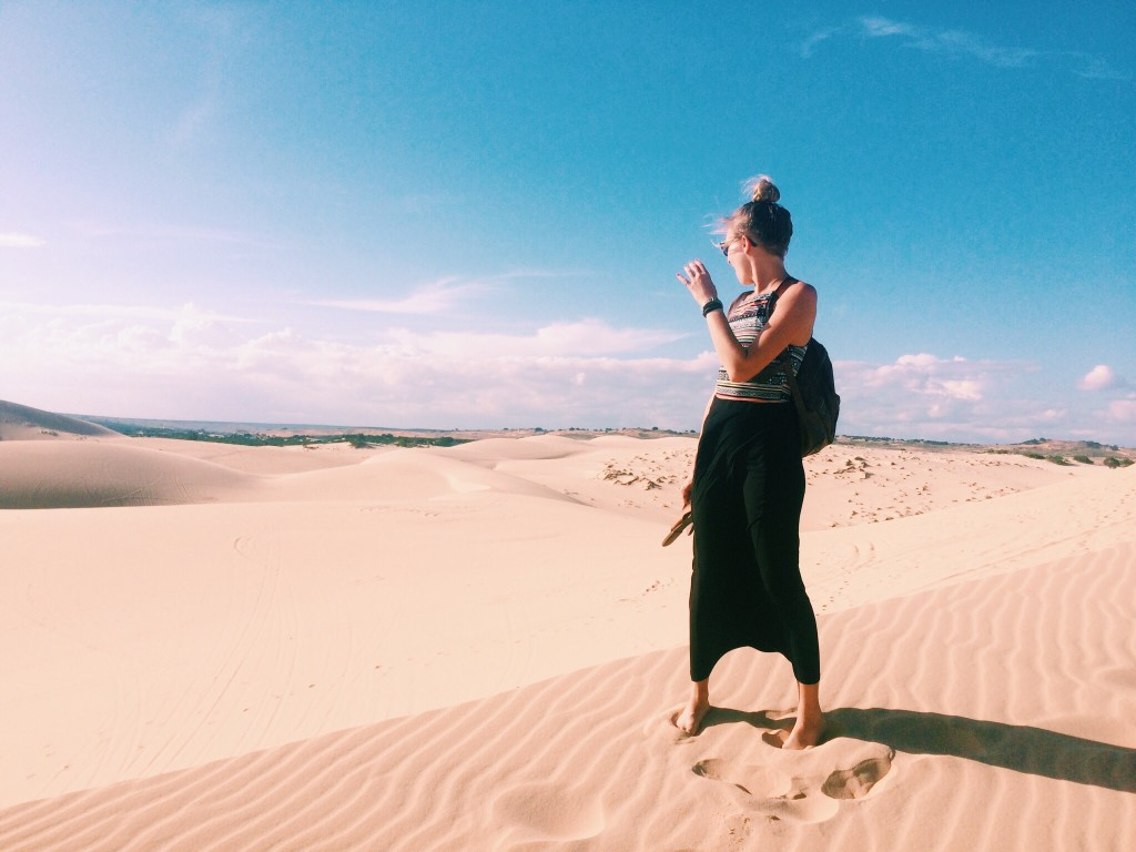 White sand dunes and an un-posed picture...