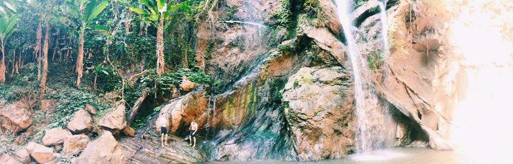 It was all fun and games at the waterfall (except when Brett dove in with his phone. That wasn't fun).