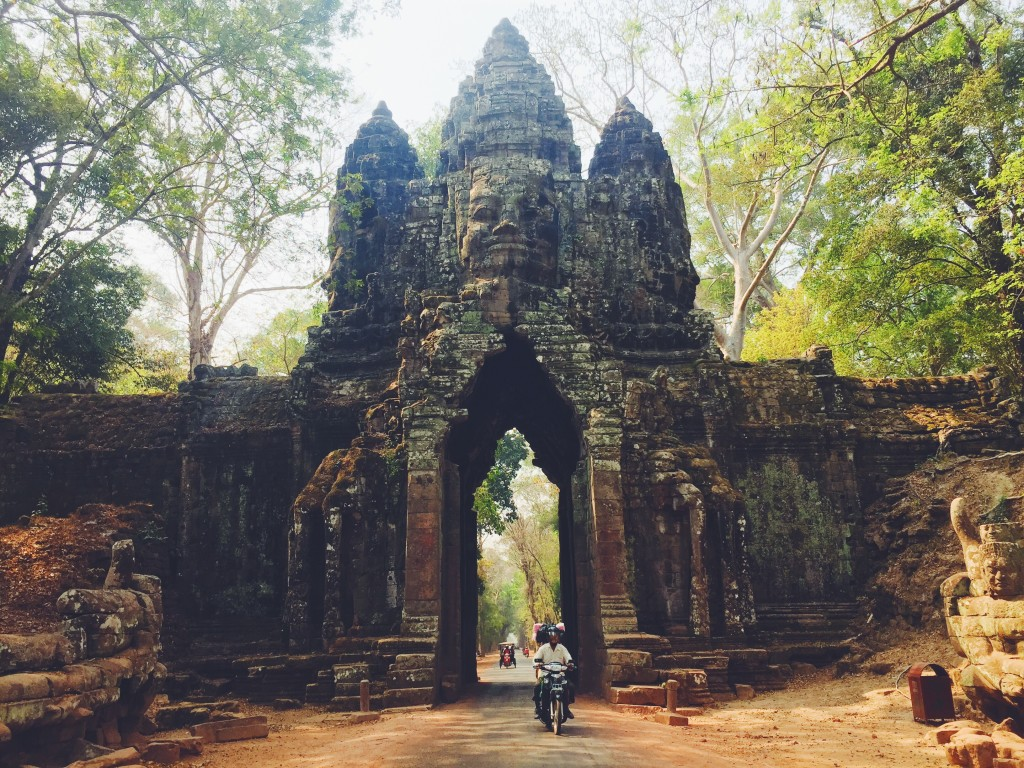 Touring around the grounds of Angkor
