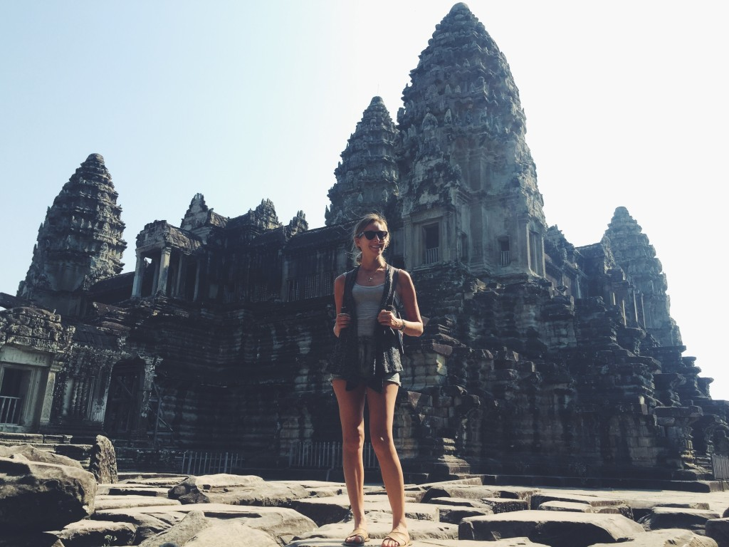 Inside Angkor Wat - the five towers were designed to resemble a closed lotus blossom!