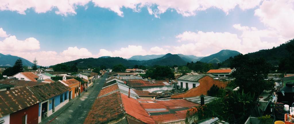 Rooftop views of Antigua
