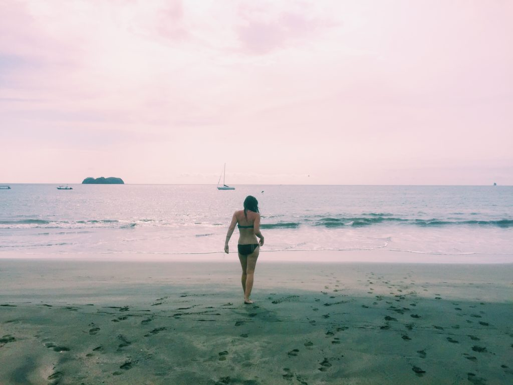 Sarah hittin' the beach