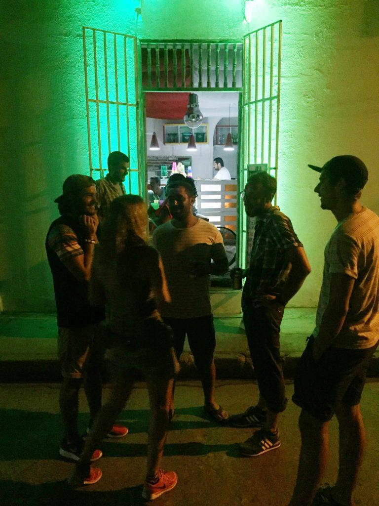 A strictly Heineken bar we were somehow lured to