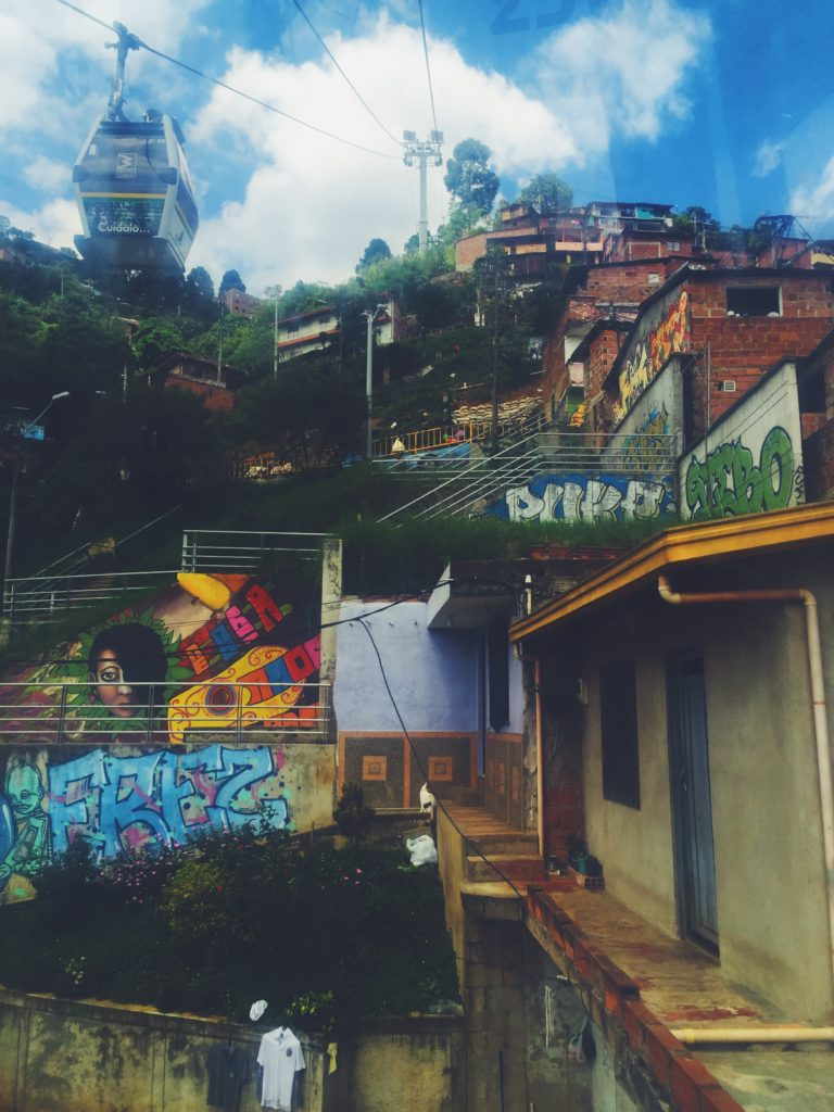 Una mas of the favelas from the cable car