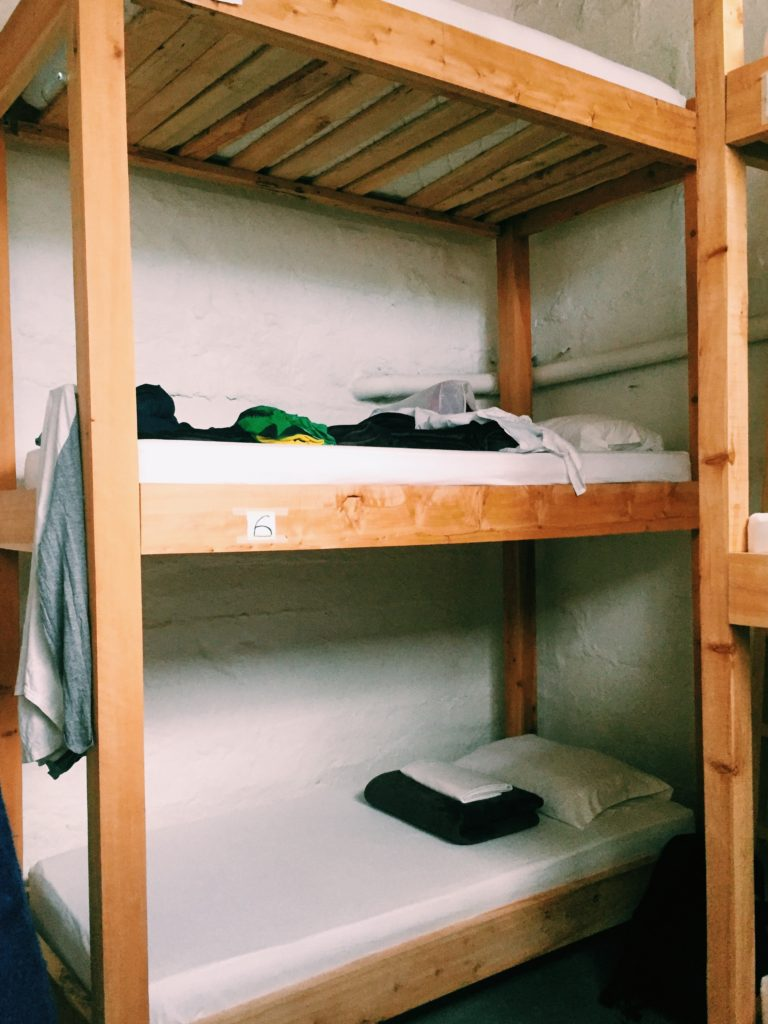 Triple-decker dorm beds